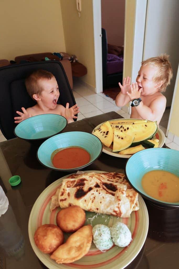 dante och milo frukost